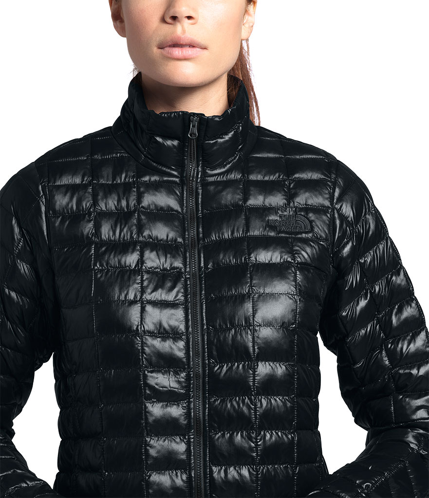 Women's The North Face Thermoball Eco Winter Jacket, TNF Black, large, image 3