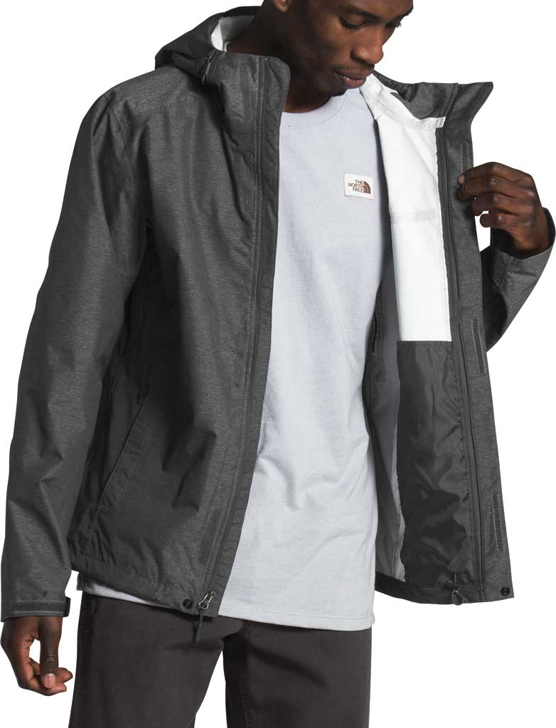 Men's The North Face Venture 2 Jacket, TNF Dark Grey Heather/TNF Grey Heather/TNF Black, large, image 3