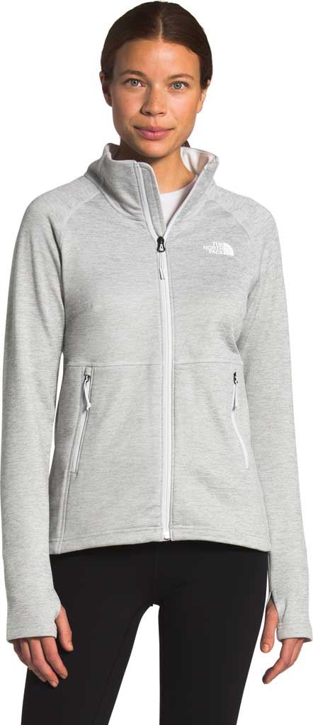Women's The North Face Canyonlands Full Zip, TNF Light Grey Heather, large, image 1