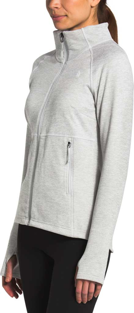 Women's The North Face Canyonlands Full Zip, TNF Light Grey Heather, large, image 3