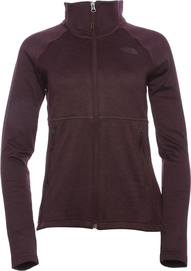 Women's The North Face Canyonlands Full Zip, Root Brown Heather, large, image 1