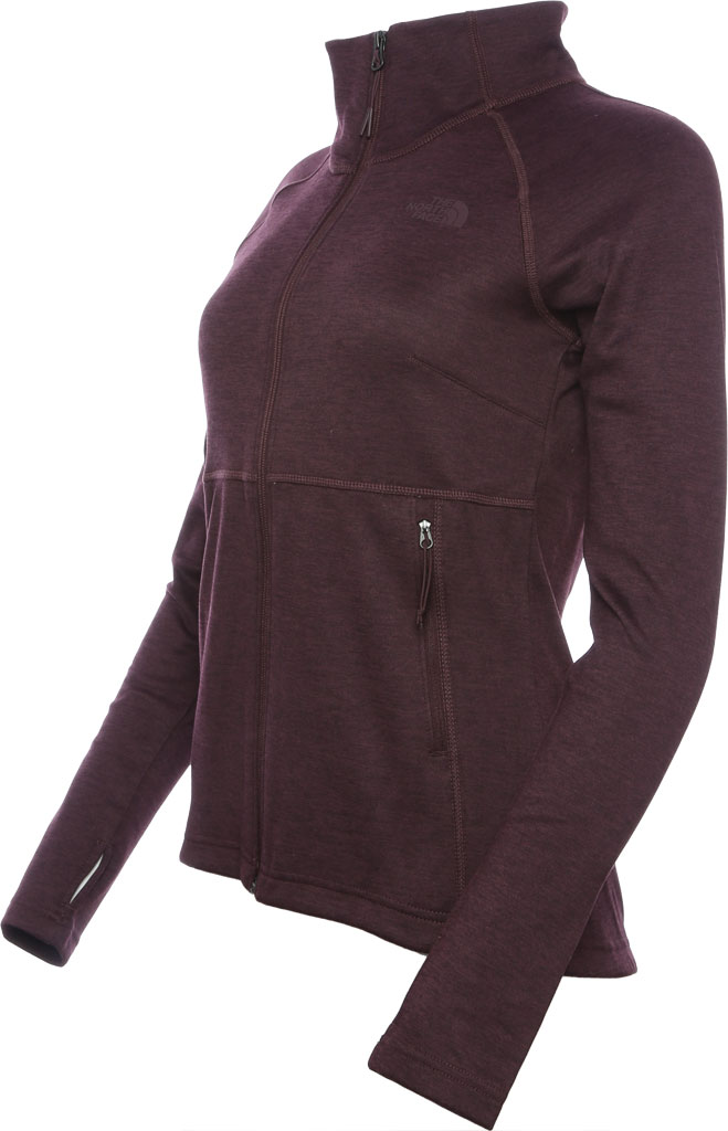 Women's The North Face Canyonlands Full Zip, Root Brown Heather, large, image 2