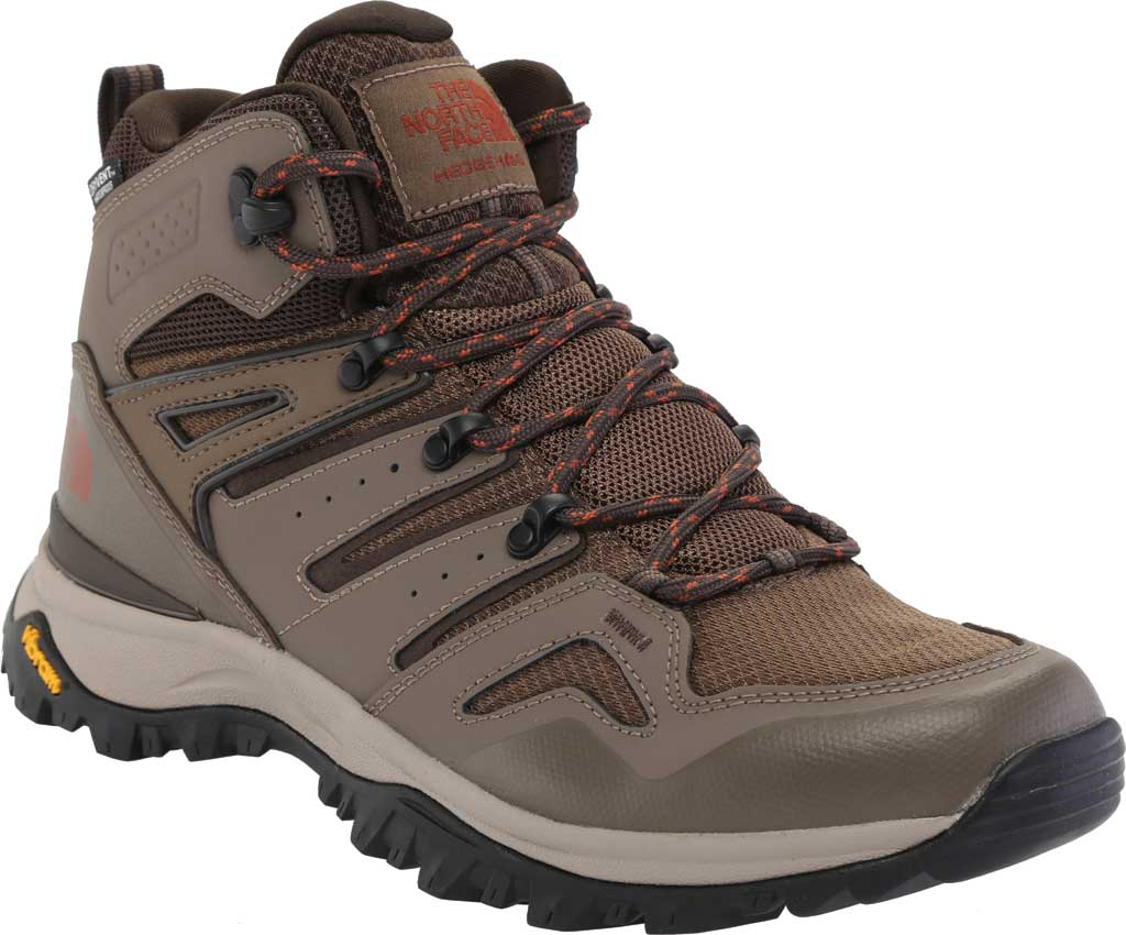 Men's The North Face Hedgehog Fastpack II Mid Waterproof Hiking Boot, Bipartisan Brown/Coffee Brown, large, image 1