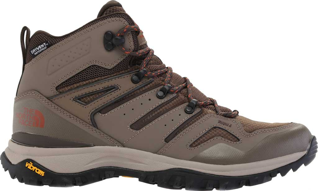 Men's The North Face Hedgehog Fastpack II Mid Waterproof Hiking Boot, Bipartisan Brown/Coffee Brown, large, image 2