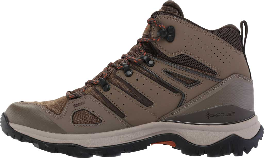 Men's The North Face Hedgehog Fastpack II Mid Waterproof Hiking Boot, Bipartisan Brown/Coffee Brown, large, image 3