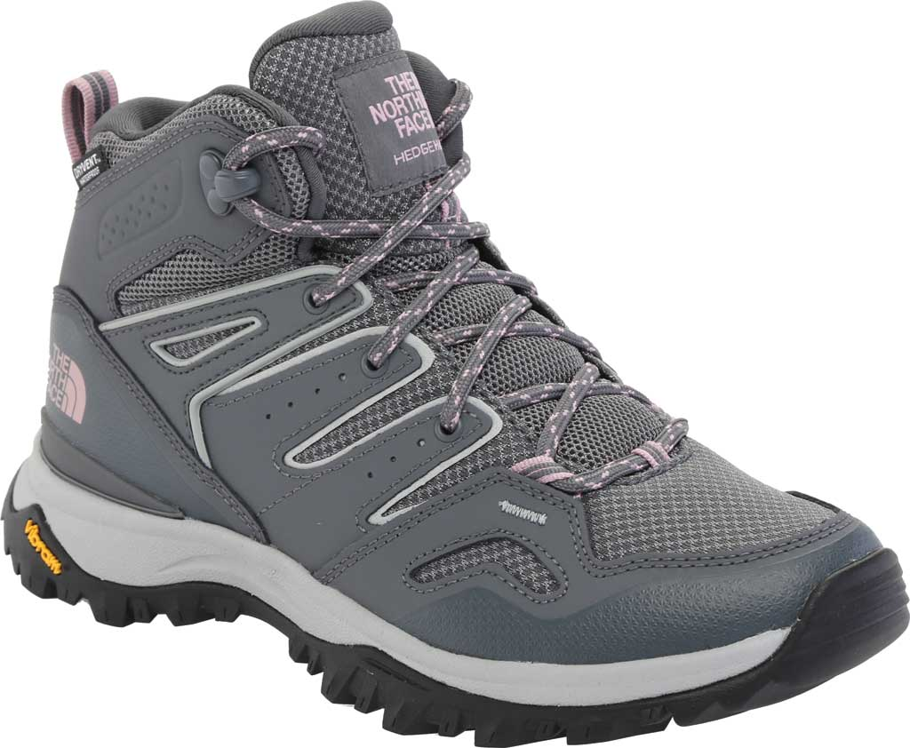 Women's The North Face Hedgehog Fastpack II Mid Waterproof Hiking Boot, Zinc Grey/Mauve Shadows, large, image 1