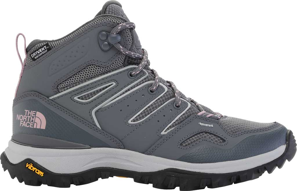 Women's The North Face Hedgehog Fastpack II Mid Waterproof Hiking Boot, Zinc Grey/Mauve Shadows, large, image 2