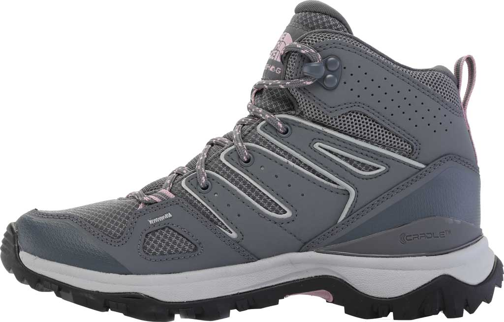 Women's The North Face Hedgehog Fastpack II Mid Waterproof Hiking Boot, Zinc Grey/Mauve Shadows, large, image 3