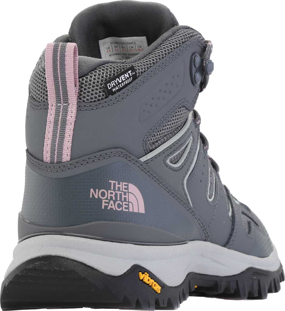 Women's The North Face Hedgehog Fastpack II Mid Waterproof Hiking Boot, Zinc Grey/Mauve Shadows, large, image 4