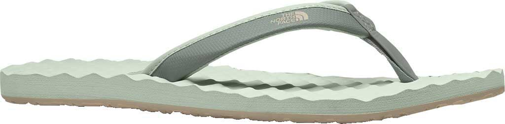 Women's The North Face Base Camp Mini II Flip Flop, Green Mist/Wrought Iron, large, image 1