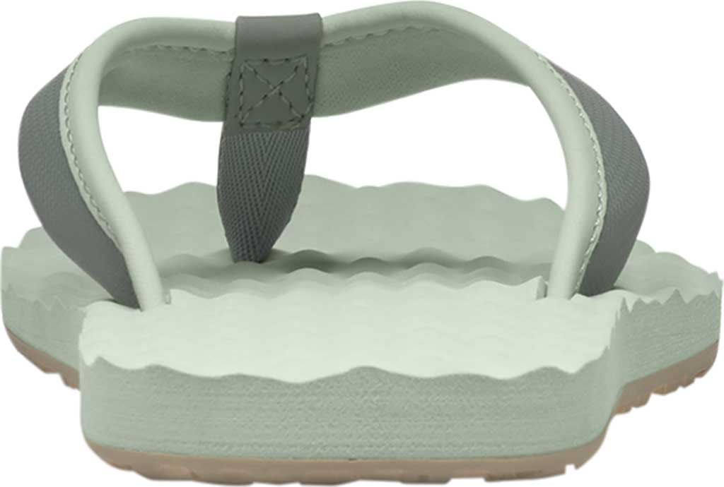 Women's The North Face Base Camp Mini II Flip Flop, Green Mist/Wrought Iron, large, image 2