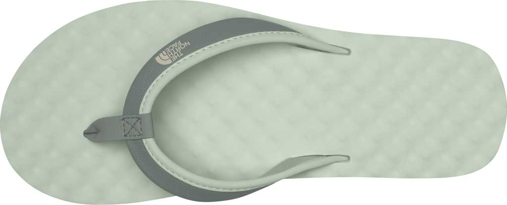 Women's The North Face Base Camp Mini II Flip Flop, Green Mist/Wrought Iron, large, image 3