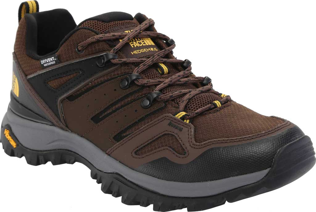 Men's The North Face Hedgehog Fastpack II Waterproof Hiking Shoe, Chocolate Brown/TNF Black, large, image 1