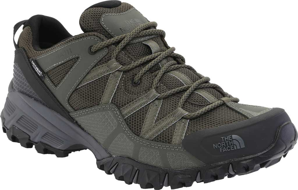 Men's The North Face Ultra 111 Waterproof Trail Shoe, New Taupe Green/TNF Black, large, image 1