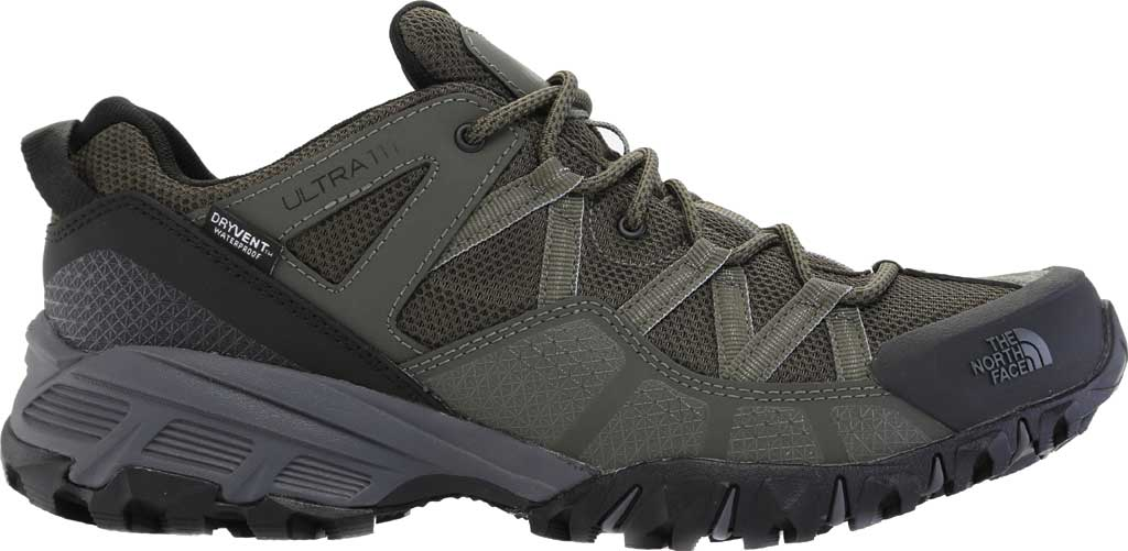 Men's The North Face Ultra 111 Waterproof Trail Shoe, New Taupe Green/TNF Black, large, image 2