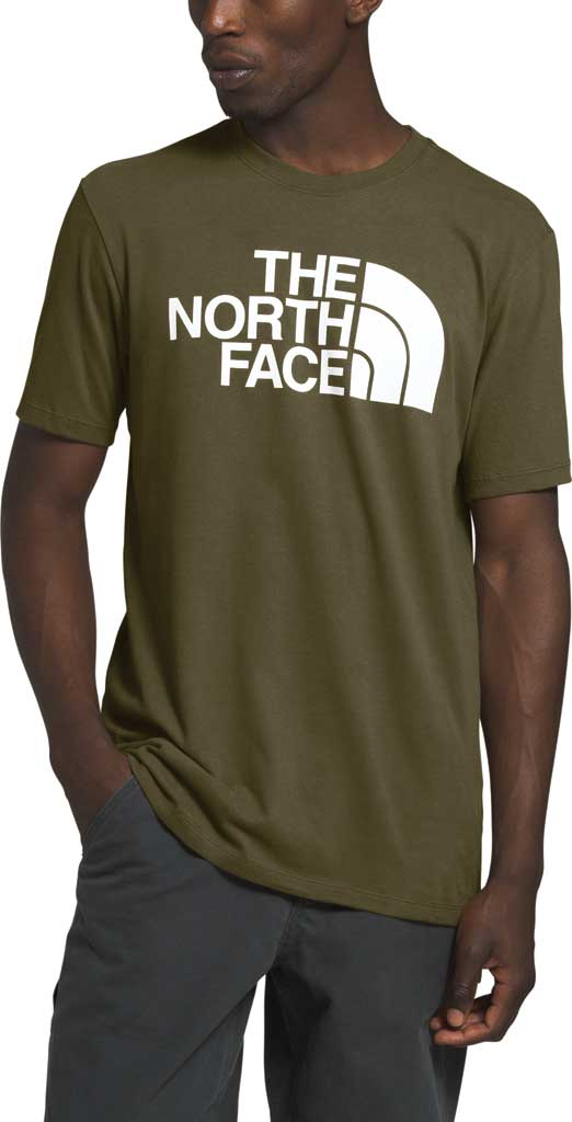 Men's The North Face Half Dome Short Sleeve Tee, Burnt Olive Green, large, image 1