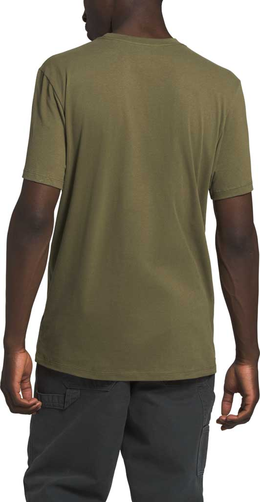Men's The North Face Half Dome Short Sleeve Tee, Burnt Olive Green, large, image 2