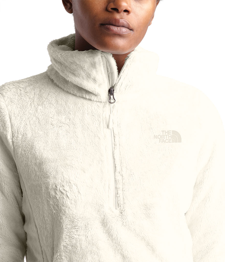Women's The North Face Osito Quarter Zip Pullover, Vintage White, large, image 4