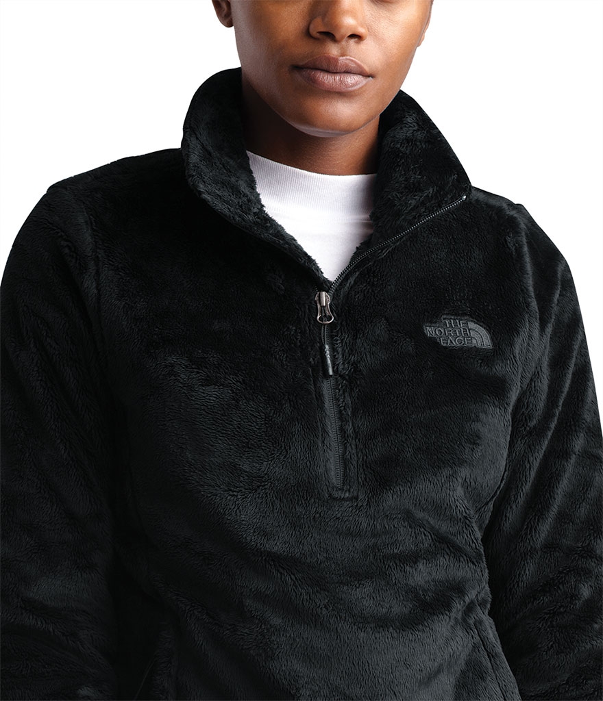 Women's The North Face Osito Quarter Zip Pullover, TNF Black, large, image 4