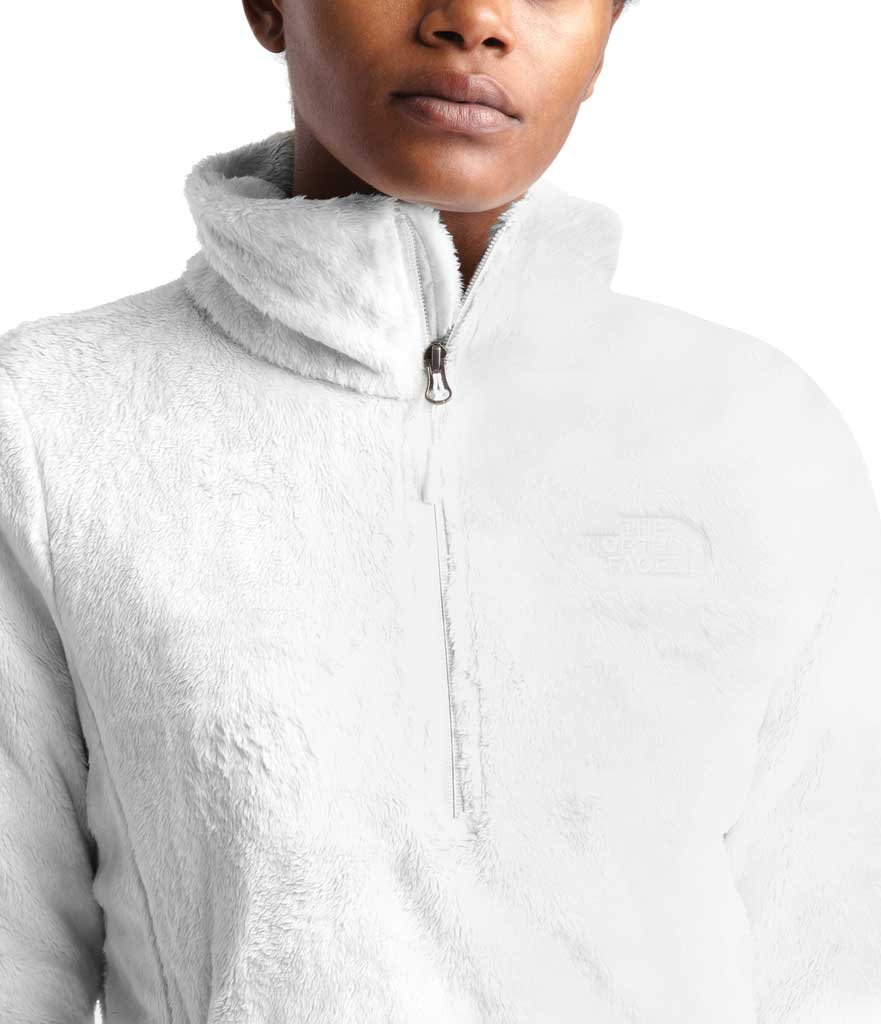 Women's The North Face Osito Quarter Zip Pullover, TNF White, large, image 4