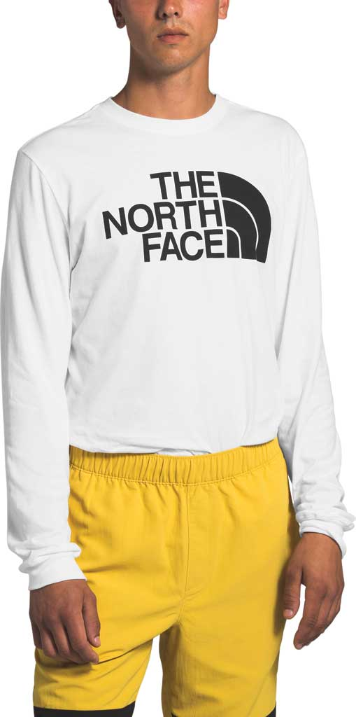 Men's The North Face Half Dome Long Sleeve Tee, TNF White, large, image 1