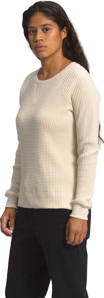 Women's The North Face Long Sleeve Chabot Crew Sweatshirt, Bleached Sand, large, image 1
