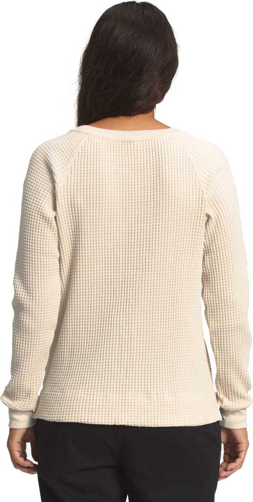 Women's The North Face Long Sleeve Chabot Crew Sweatshirt, Bleached Sand, large, image 2