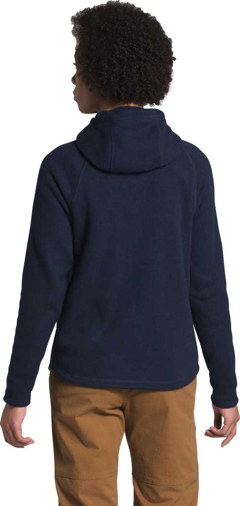 Women's The North Face Crescent Hooded 1/2 Zip Pullover, Aviator Navy/Black Heather, large, image 2