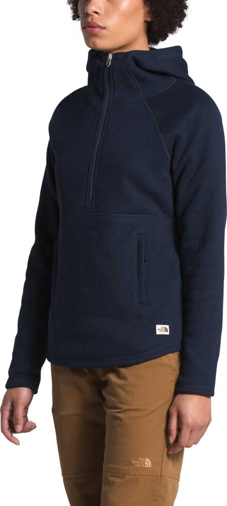 Women's The North Face Crescent Hooded 1/2 Zip Pullover, Aviator Navy/Black Heather, large, image 3