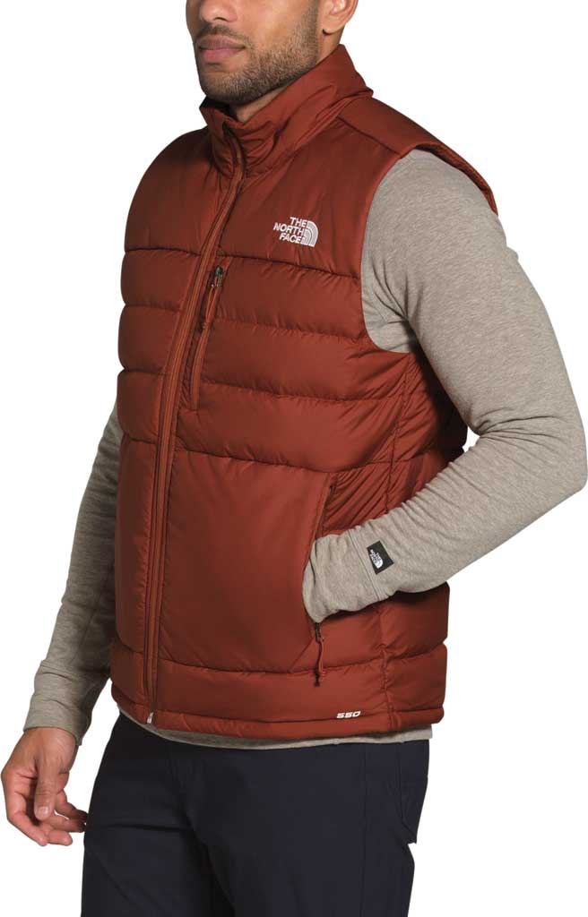 Men's The North Face Aconcagua 2 Quilted Vest, Brandy Brown, large, image 3