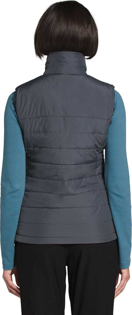 Women's The North Face Mossbud Insulated Reversible Quilted Vest, Vanadis Grey/TNF Black, large, image 2