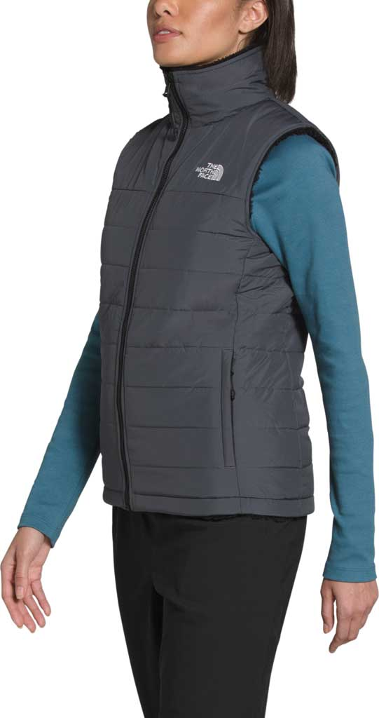 Women's The North Face Mossbud Insulated Reversible Quilted Vest, Vanadis Grey/TNF Black, large, image 3