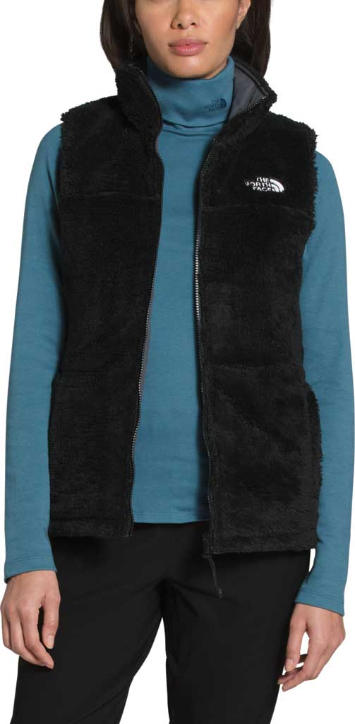 Women's The North Face Mossbud Insulated Reversible Quilted Vest, Vanadis Grey/TNF Black, large, image 4