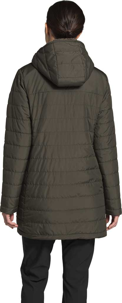 Women's The North Face Mossbud Insulated Reversible Quilted Parka, New Taupe Green, large, image 2