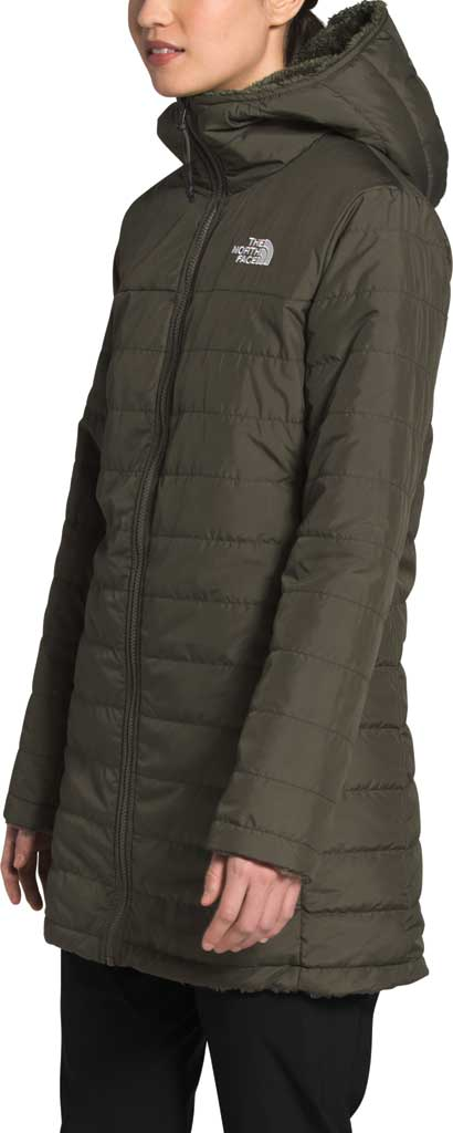 Women's The North Face Mossbud Insulated Reversible Quilted Parka, New Taupe Green, large, image 3
