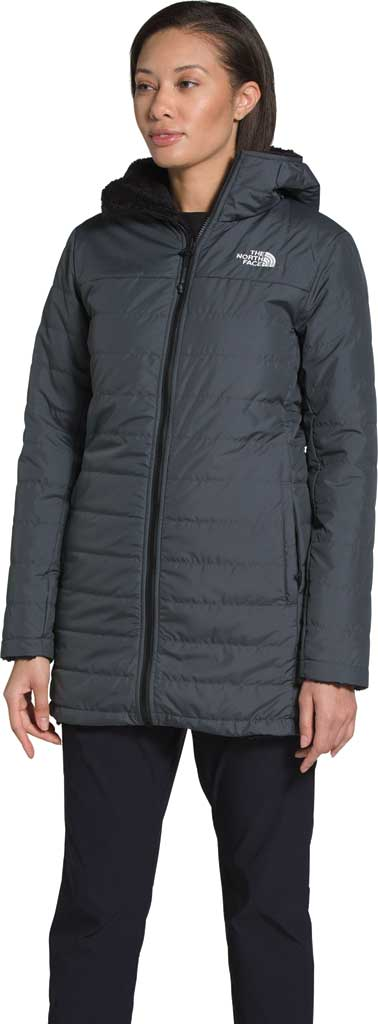 Women's The North Face Mossbud Insulated Reversible Quilted Parka, Vanadis Grey/TNF Black, large, image 1