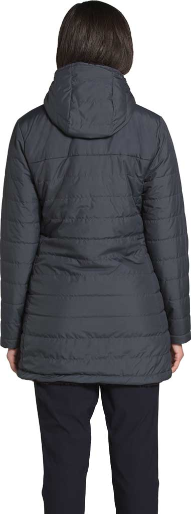 Women's The North Face Mossbud Insulated Reversible Quilted Parka, Vanadis Grey/TNF Black, large, image 2