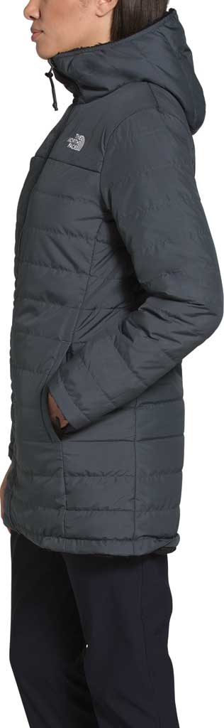 Women's The North Face Mossbud Insulated Reversible Quilted Parka, Vanadis Grey/TNF Black, large, image 3