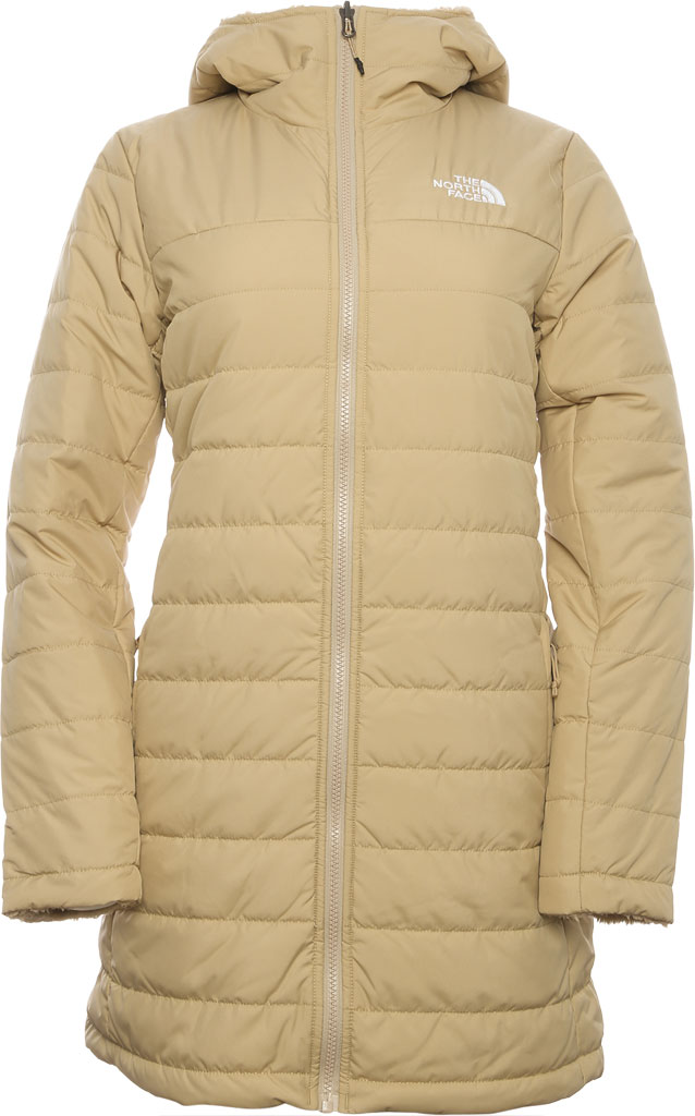 Women's The North Face Mossbud Insulated Reversible Quilted Parka, Hawthorne Khaki, large, image 1