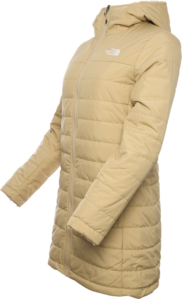 Women's The North Face Mossbud Insulated Reversible Quilted Parka, Hawthorne Khaki, large, image 2