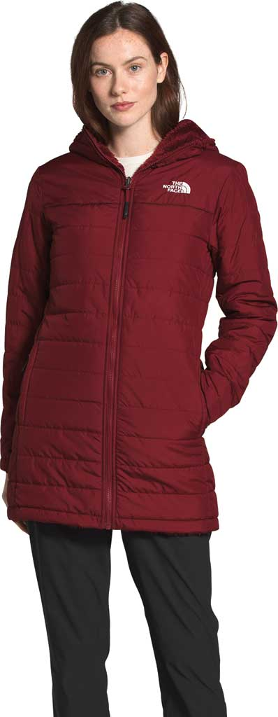 Women's The North Face Mossbud Insulated Reversible Quilted Parka, Pomegranate, large, image 1
