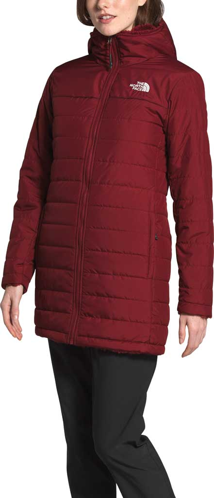 Women's The North Face Mossbud Insulated Reversible Quilted Parka, Pomegranate, large, image 3