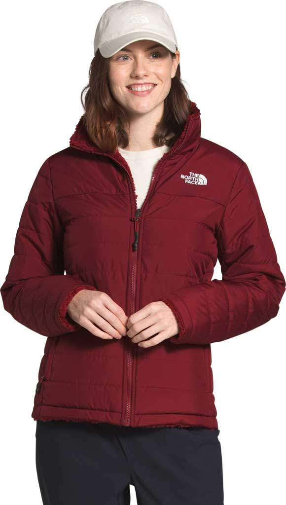 Women's The North Face Mossbud Insulated Reversible Winter Jacket, Pomegranate, large, image 1