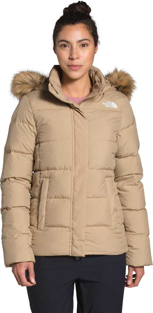 Women's The North Face Gotham Down Quilted Jacket, Hawthorne Khaki, large, image 1