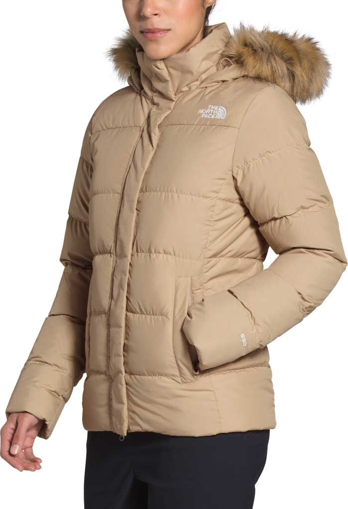 Women's The North Face Gotham Down Quilted Jacket, Hawthorne Khaki, large, image 3