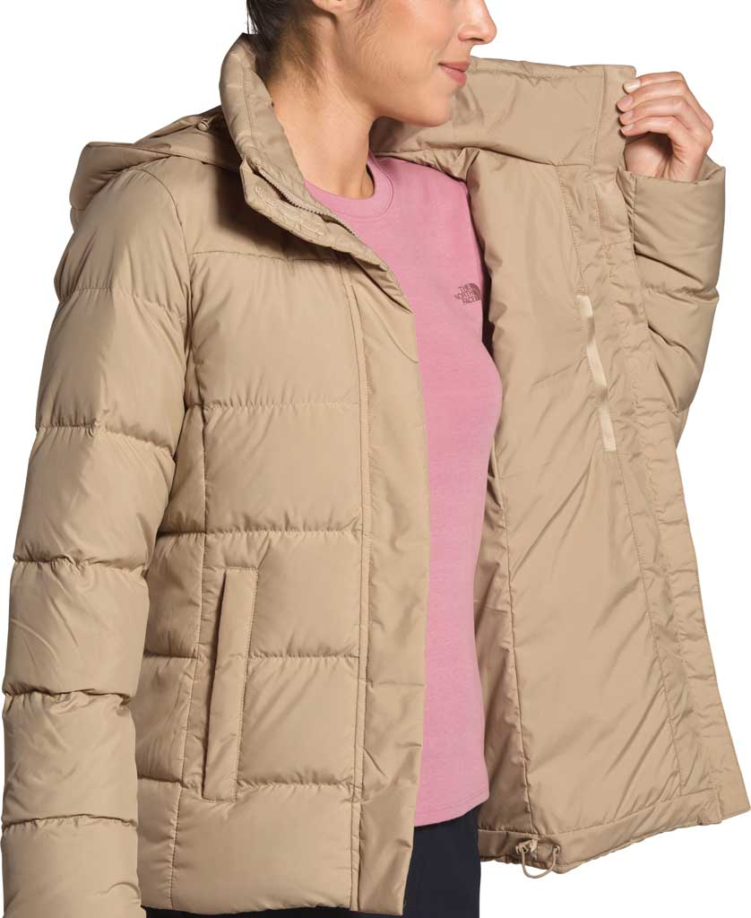 Women's The North Face Gotham Down Quilted Jacket, Hawthorne Khaki, large, image 4
