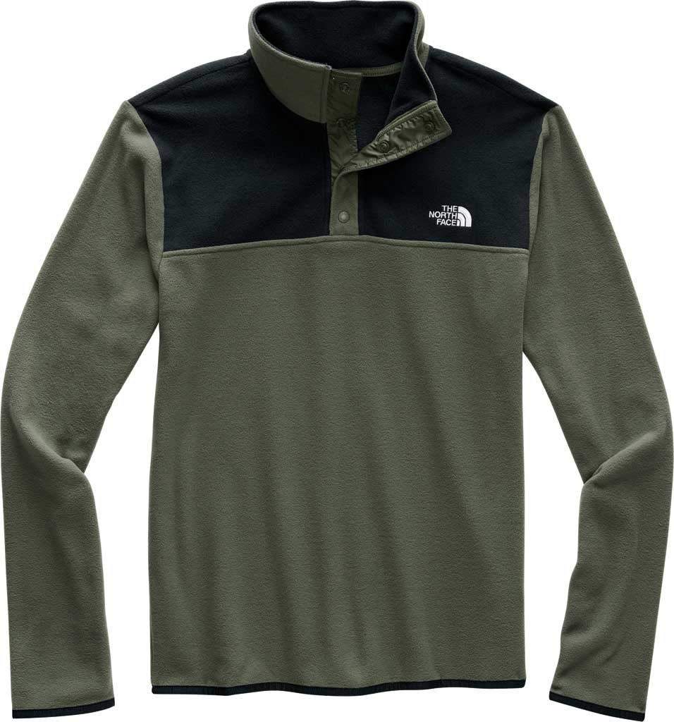 Men's The North Face TKA Glacier Snap Neck Pullover, New Taupe Green/TNF Black, large, image 1