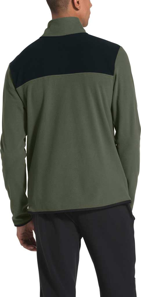Men's The North Face TKA Glacier Snap Neck Pullover, New Taupe Green/TNF Black, large, image 2