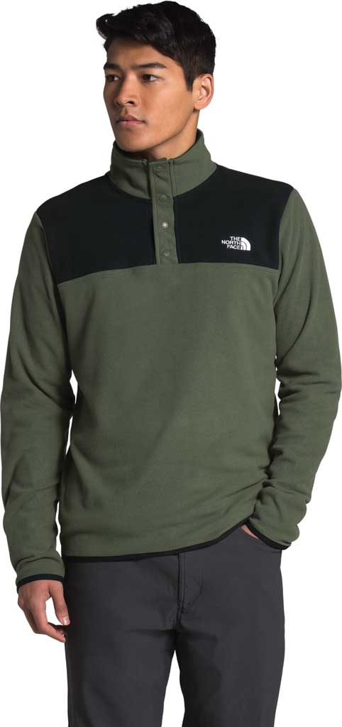 Men's The North Face TKA Glacier Snap Neck Pullover, New Taupe Green/TNF Black, large, image 3
