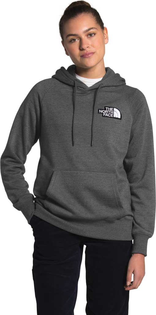 Women's The North Face Heritage Pullover Hoodie, TNF Dark Grey Heather, large, image 1